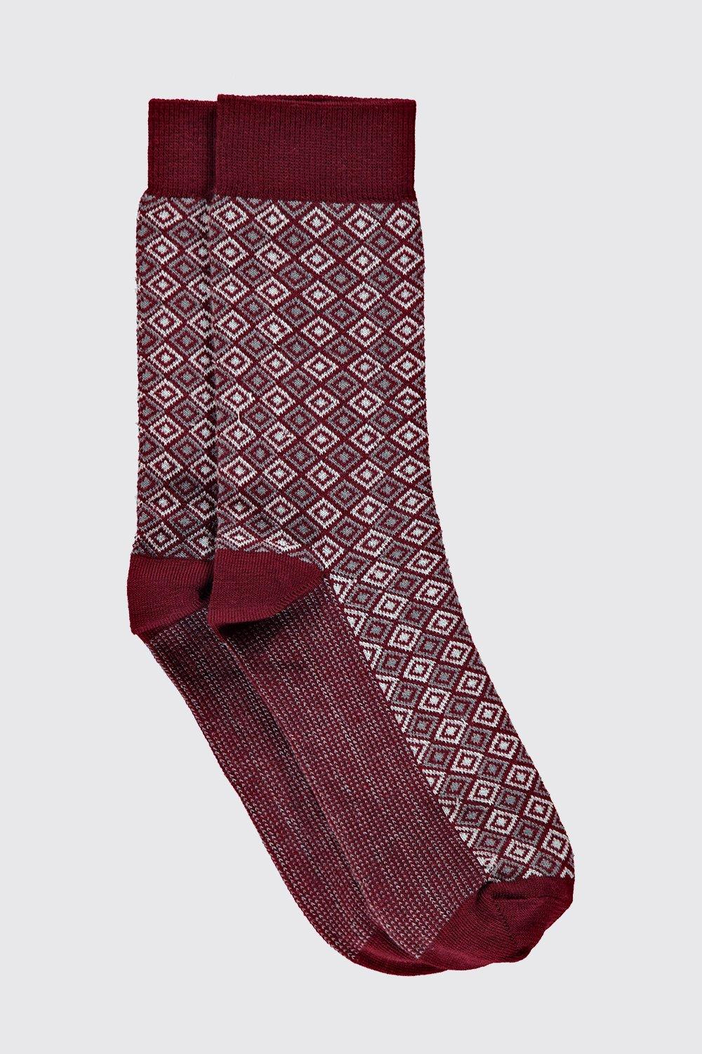 Pack Geometric Socks red