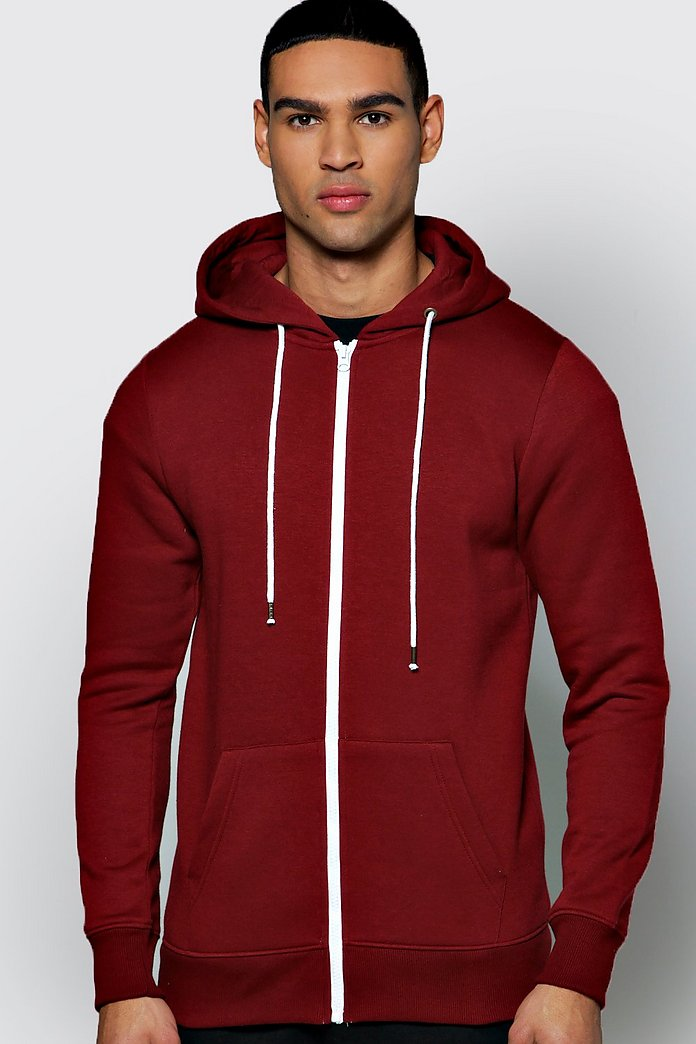 Slim Fit Zip Through Hoodie