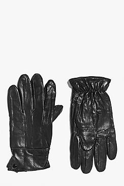 Leather Gloves with Sheepskin Lining