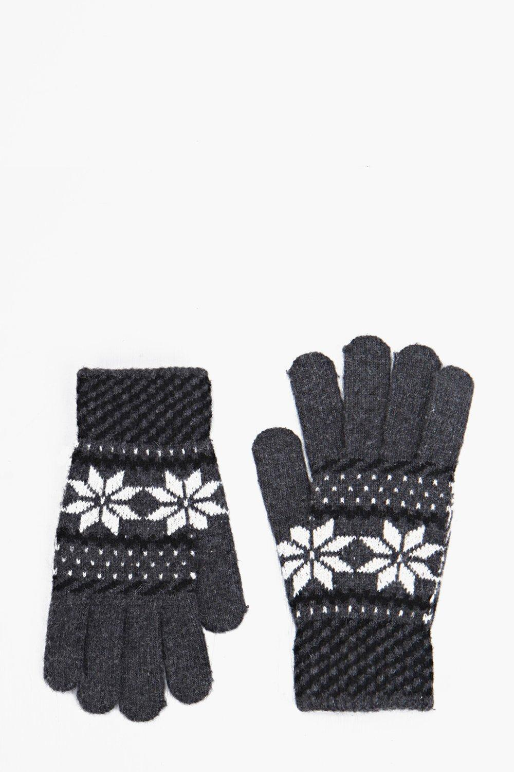 Fairisle Gloves - charcoal - Bring your accessorie