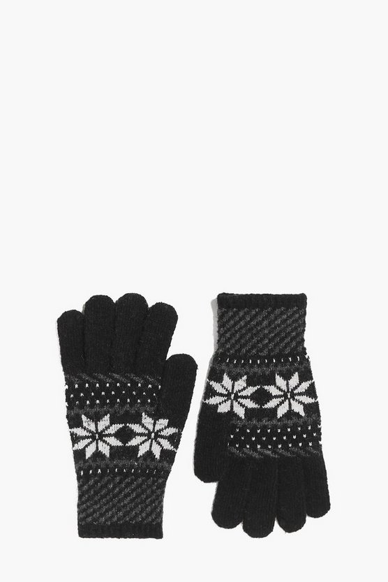 Snowflake Fairisle Gloves