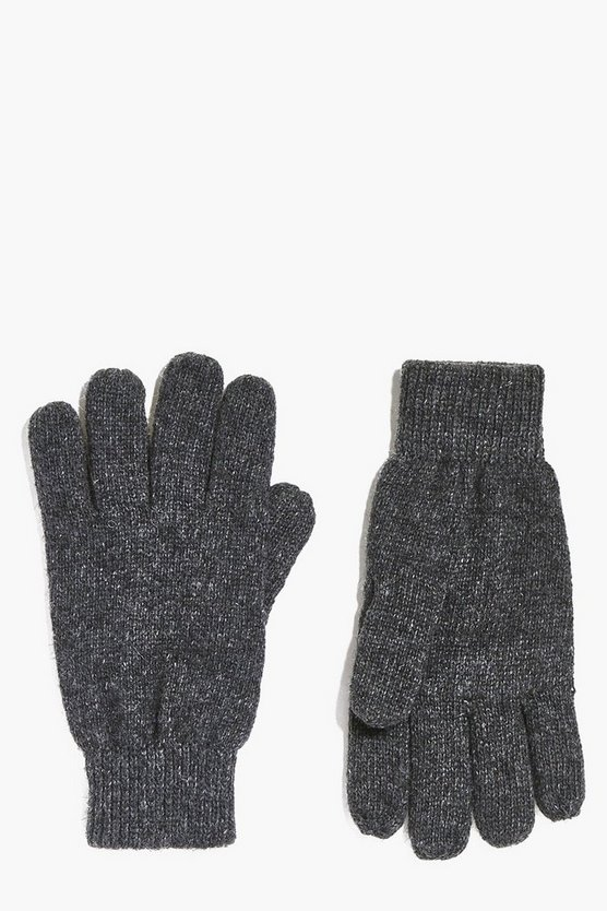 Wool Mix Plain Gloves
