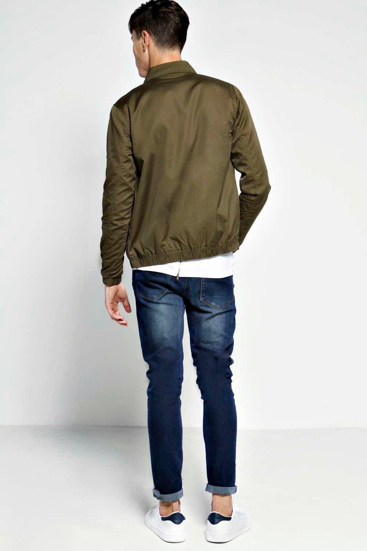 Boohoo Mens Peach Twill Harrington Jacket Ebay