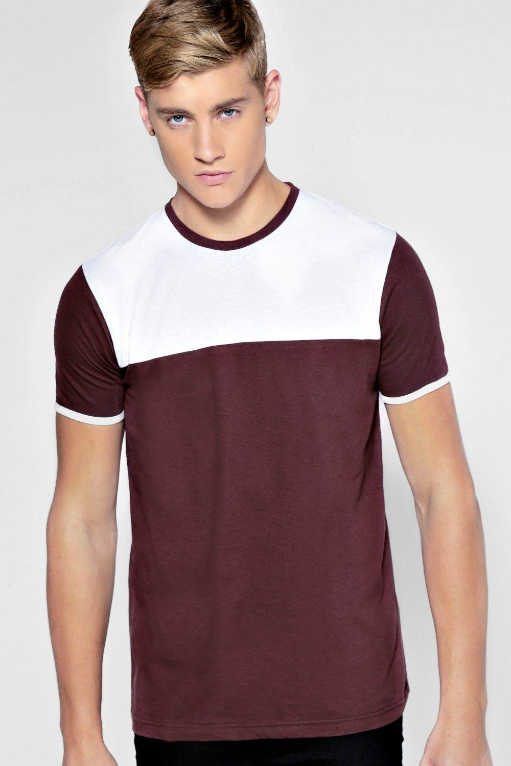 Slim Fit Colour Block T Shirt