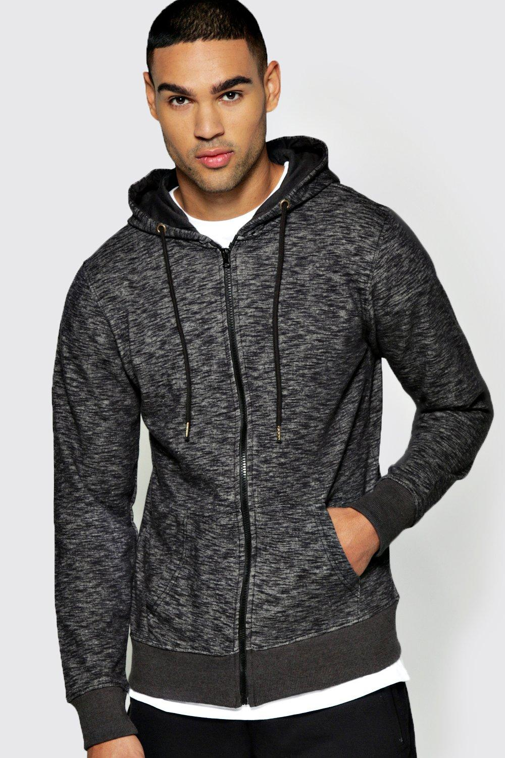 Space Dye Zip Through Hoodie