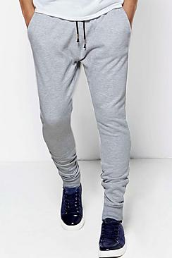 Skinny Joggers with Stepped Hem