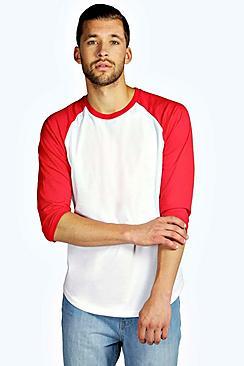 Image of 3/4 Raglan Sleeve T Shirt