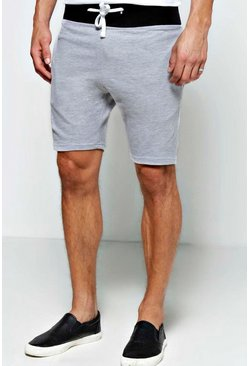 Lounge Shorts with Contrast Rib
