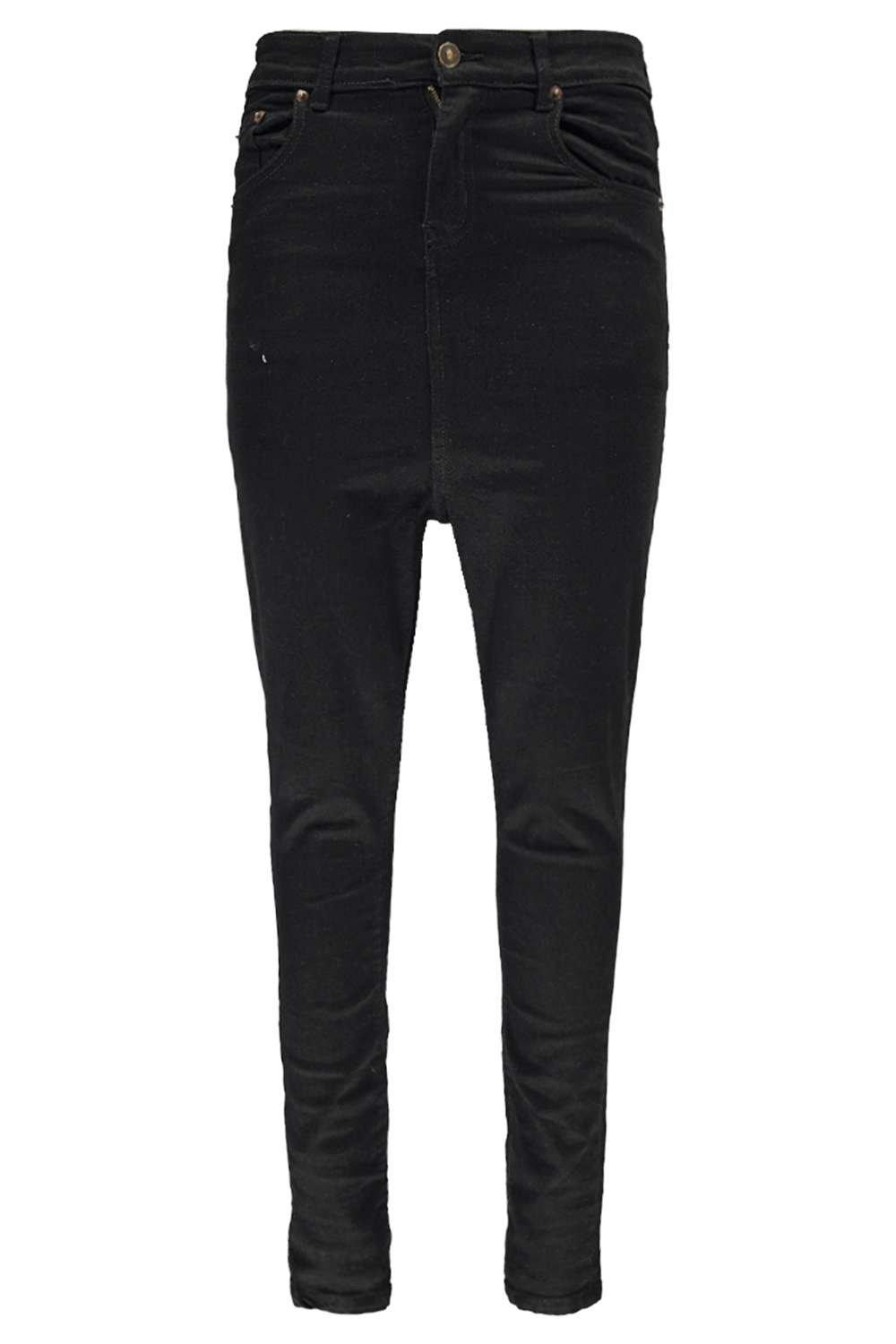 Drop Crotch Skinny Black Jeans at boohoo.com