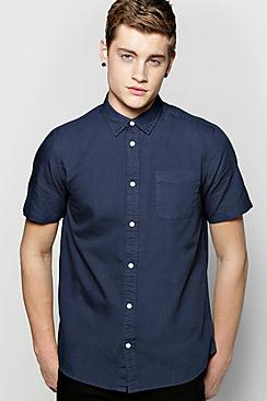 Short Sleeve Laundered Oxford Shirt
