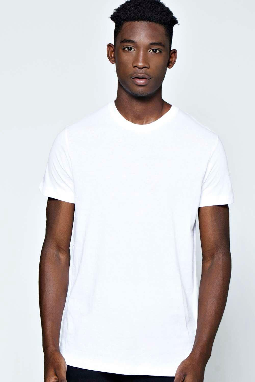 Fit Crew Neck T Shirt  white