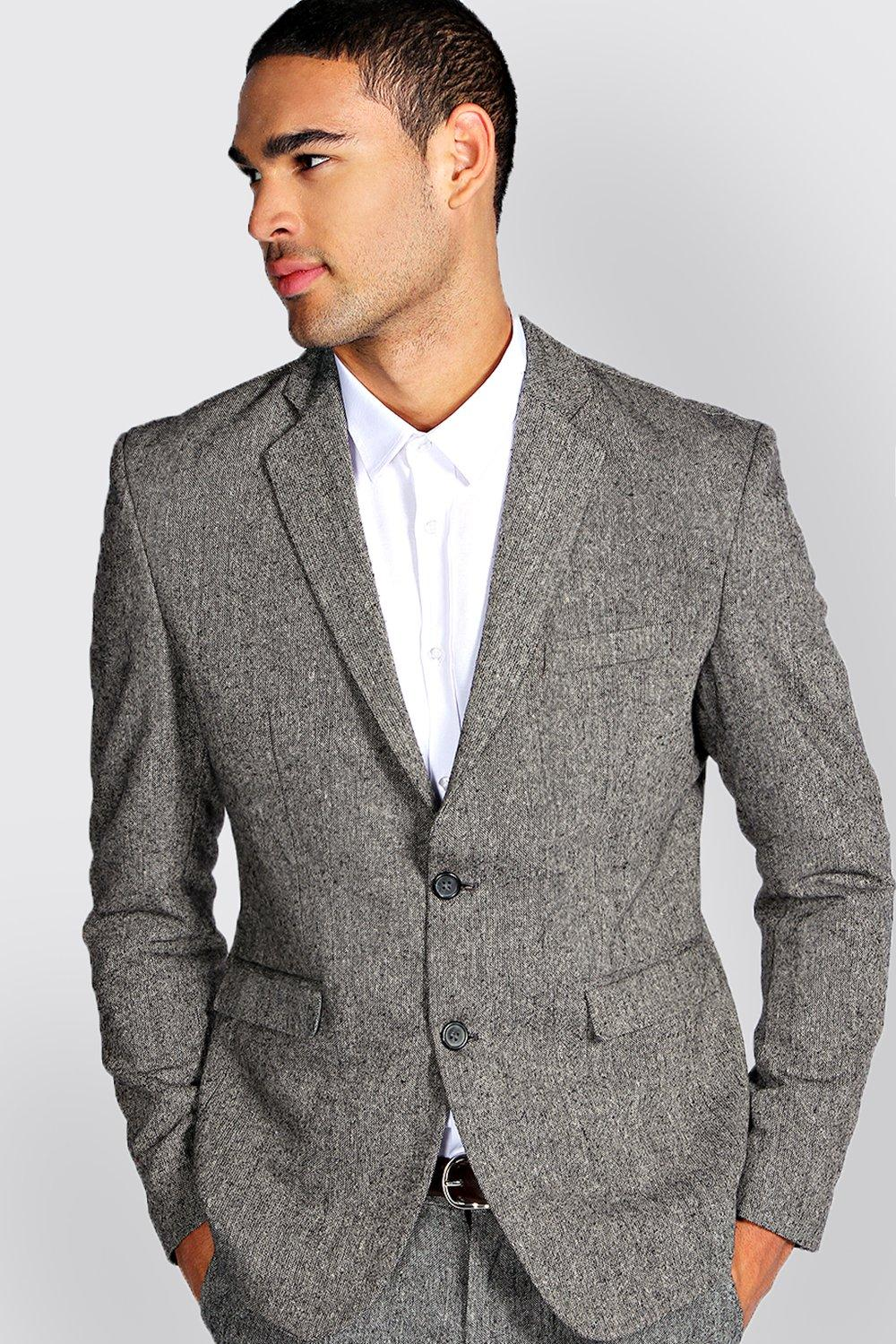 Slim Fit Tweed Blazer | Boohoo