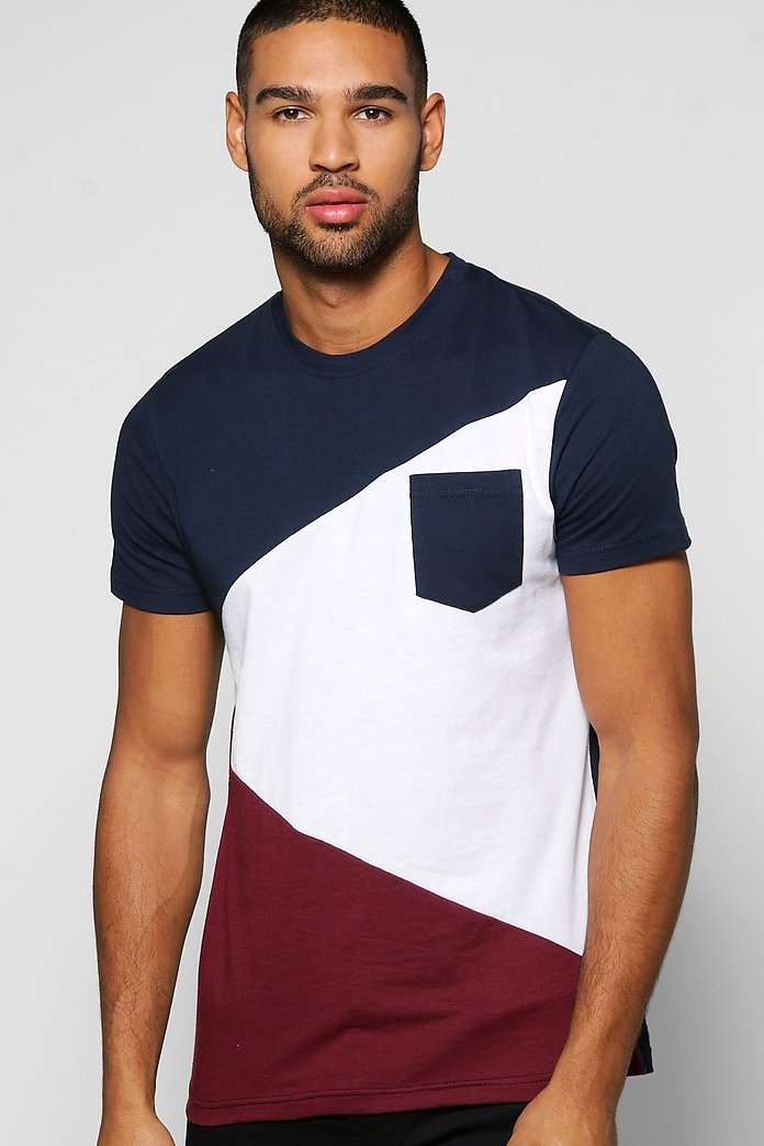Spliced Colour Block T Shirt