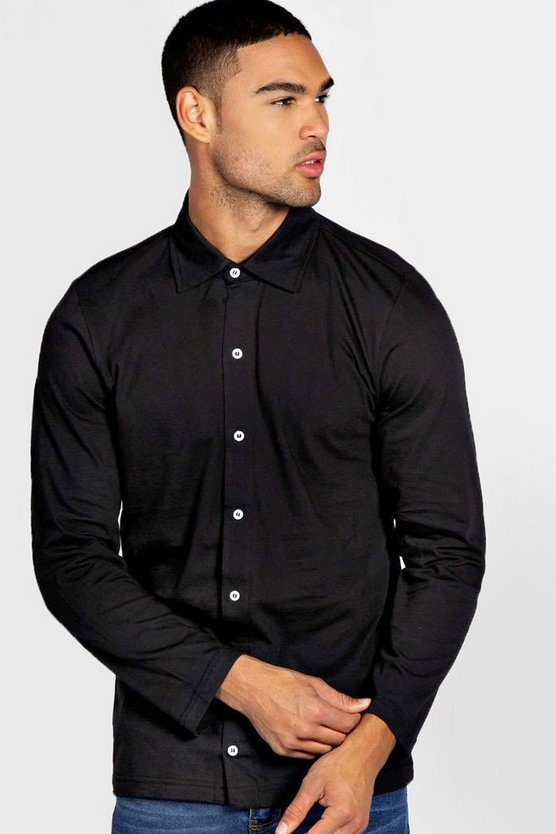 Long Sleeve Button Through Shirt