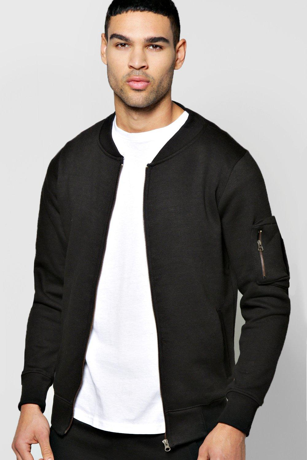 Zip Through Bomber with MA1 Sleeve