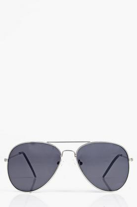 Aviator Sunglasses with Black Lens