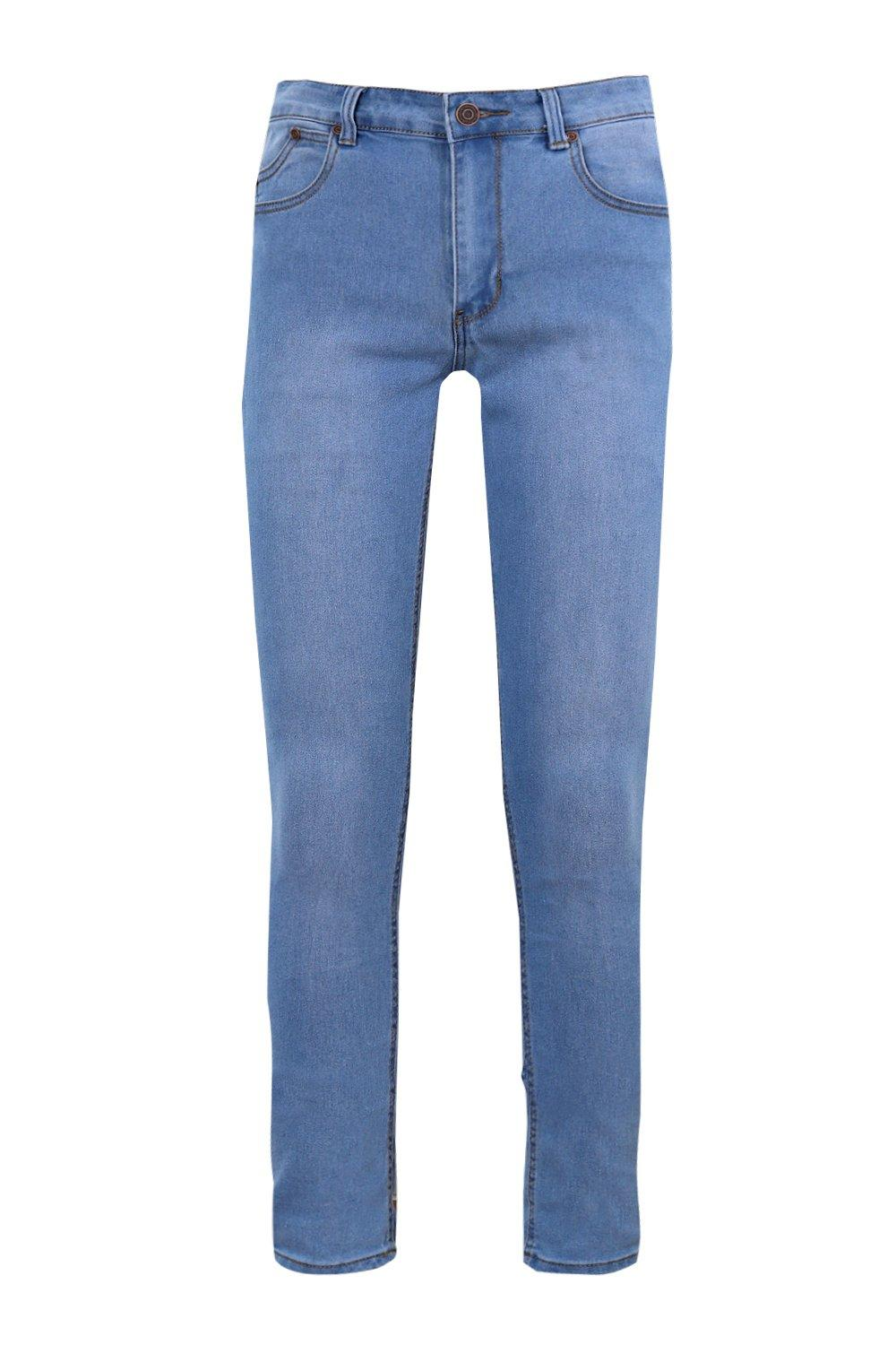boohoo mens stone washed stretch skinny fit jeans ebay. Black Bedroom Furniture Sets. Home Design Ideas