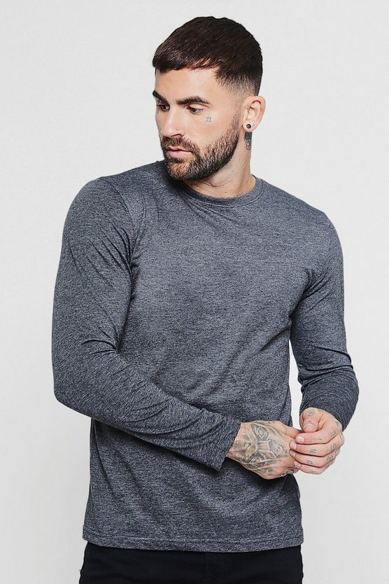 Basic Long Sleeve Crew Neck T Shirt