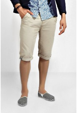 Long Length Twill Shorts