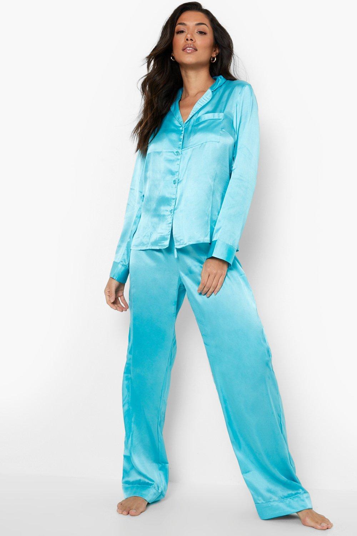 Boohoo Satijnen Mix & Match Pyjama Broek