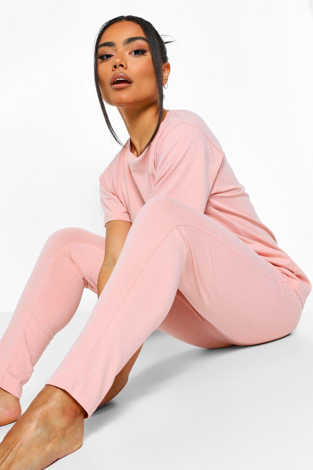 Boohoo Basic Mix & Match Pyjama Leggings, Blush