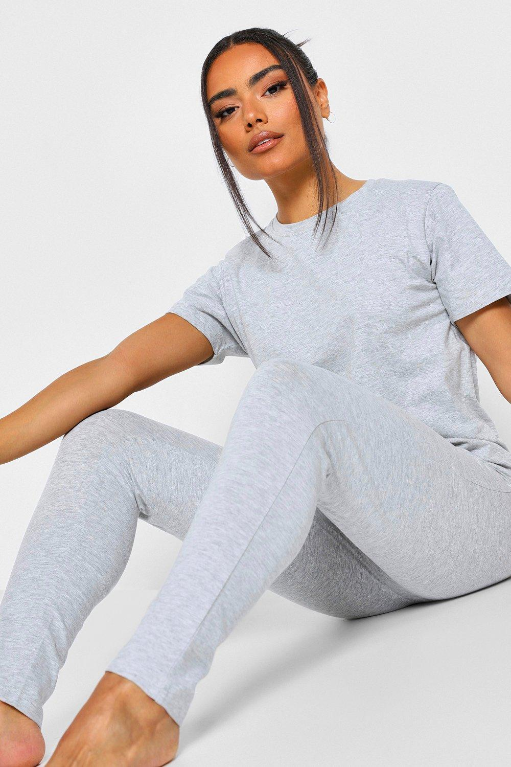 Boohoo Basic Mix & Match Pyjama Leggings, Grey