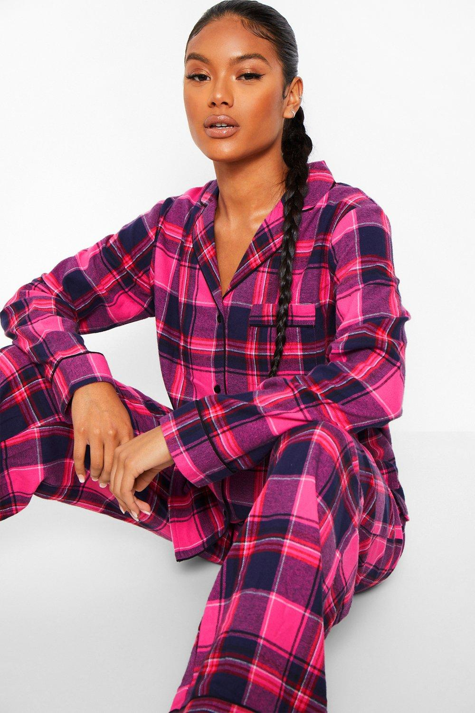 Boohoo Mix & Match Flanelen Geruite Pyjama Broek