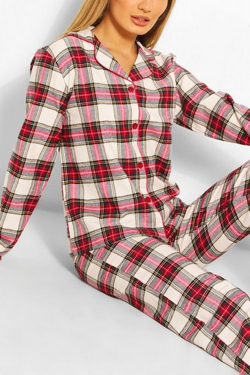 Red Flannel Check PJ Trouser Set