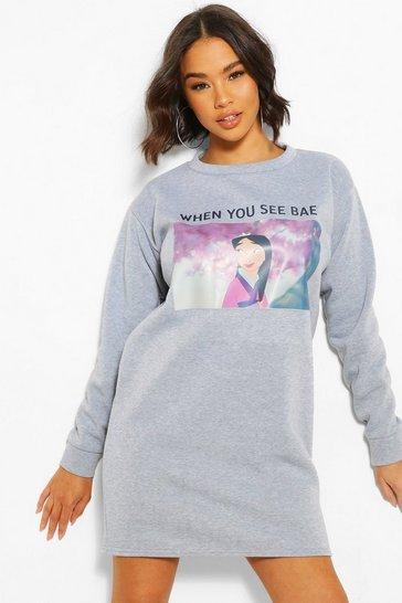 Grey Disney Mulan Sweat Dress