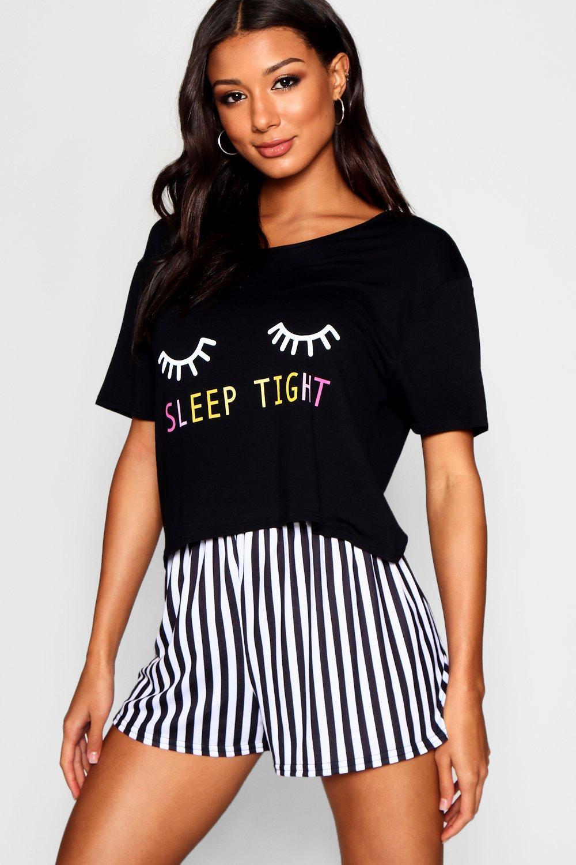 Купить Nightwear, Сет из пижамных шорт <Sleep Tight>, boohoo