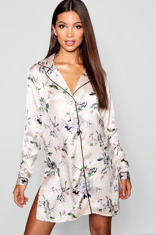 Купить Nightwear, Цветочная на пуговицах с длинными рукавами, boohoo