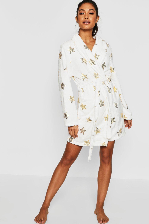 Купить Nightwear, Домашний халат с металлизированным принтом в виде звезд, boohoo