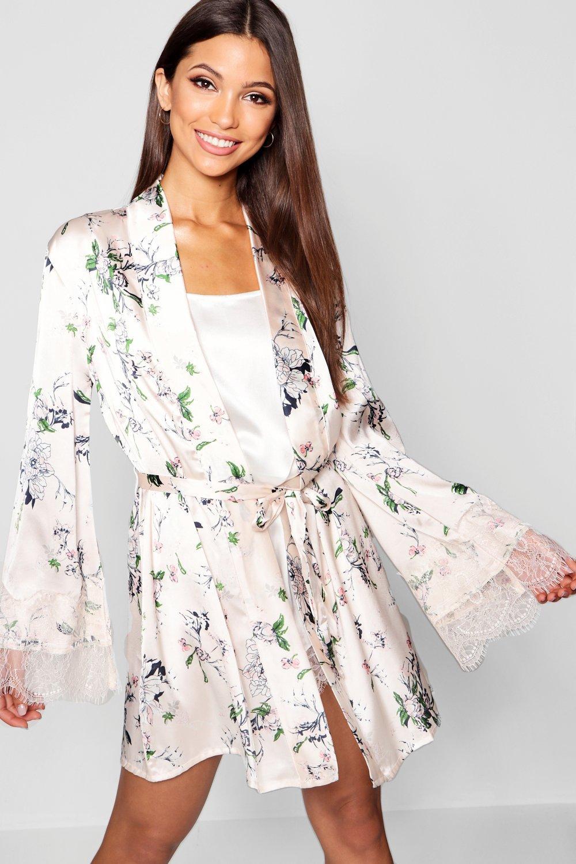 Купить Nightwear, Кружевное &amp с цветочным принтом; Атласное вечернее платье, boohoo