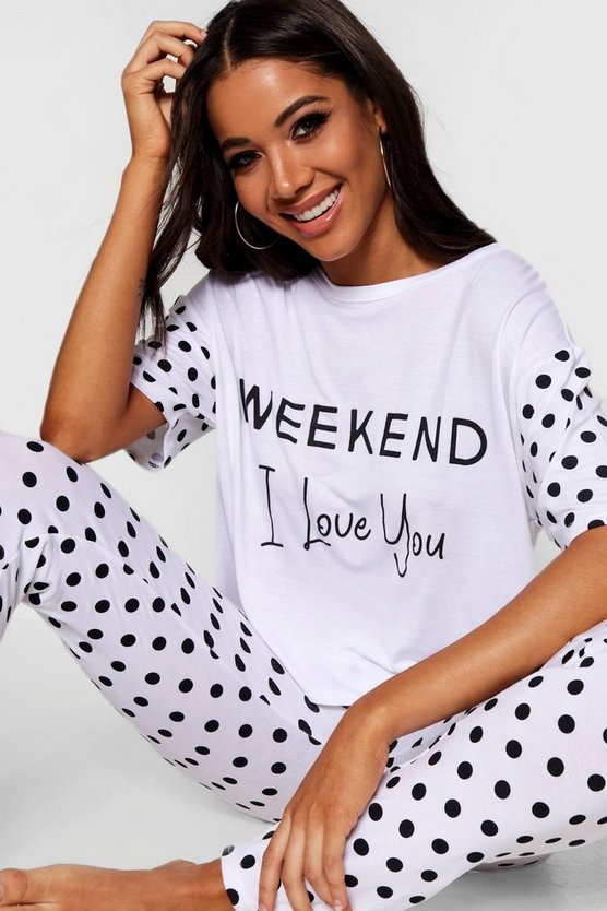 Weekend Polka Dot Pj Set