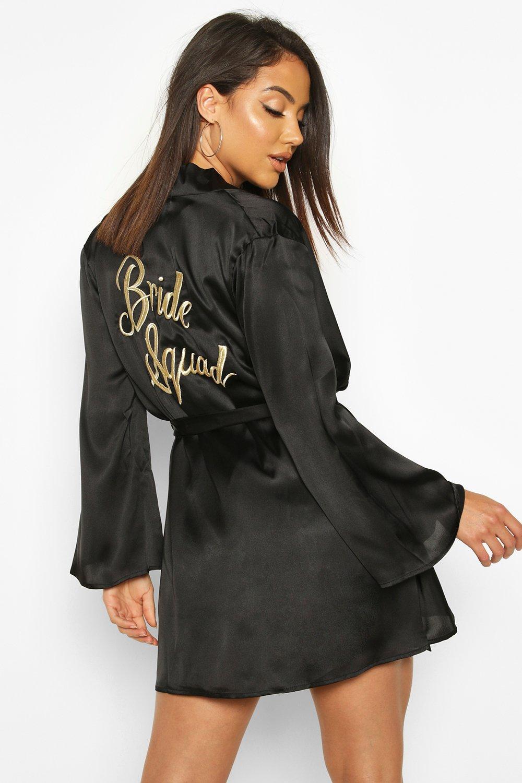 Купить Nightwear, Bride металлизированный Squad Халат с вышивкой, boohoo