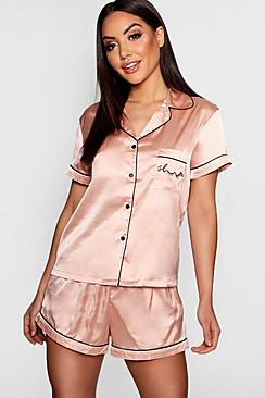 Take nights in up a notch with our silky soft sleepwearYou'll be saying no to nights out when you see our snuggle-worthy sleepwear and luxe loungewear. Cosy up in a co-ordinating pyjama set, drift off in a night dress or go for slumber party success in a statement onesie. Catch your beauty sleep in the best basics from boohoo.