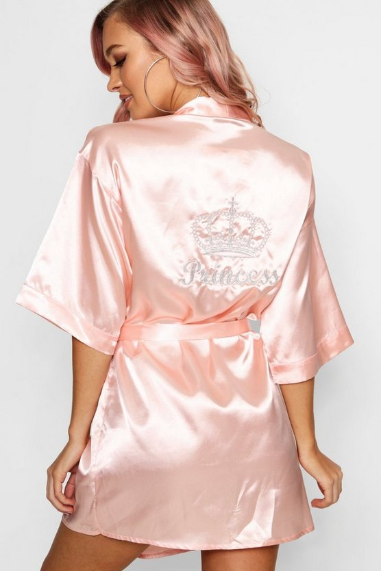Ellie Princess Crown Embroidered Robe