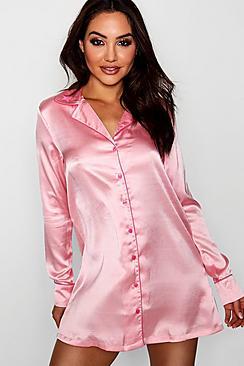 Skye Stern Nachthemd mit besticktem Kragen - Boohoo.com