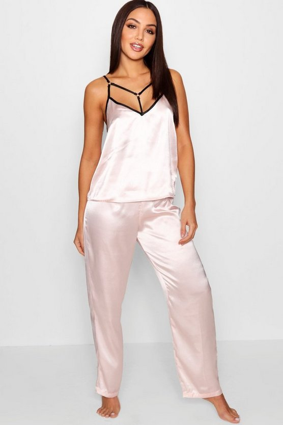 Daisy Ring & Strap Detail Cami & Trouser Set