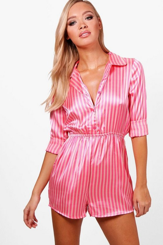 Candy Stripe Long Sleeve Teddy