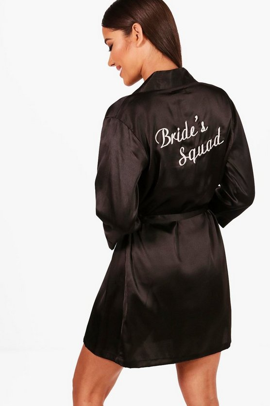 Kara Brides Squad Satin Robe