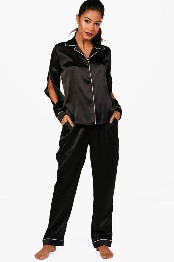 Connie Split Sleeve Satin PJ's