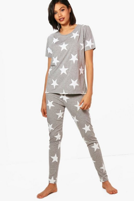Summer Star Print & Legging PJ Set