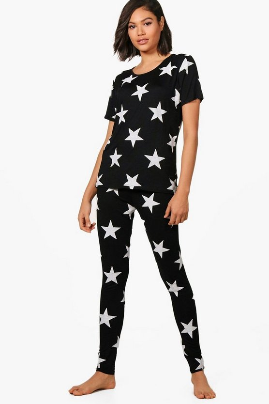 Sophia Star Print T & Legging PJ Set