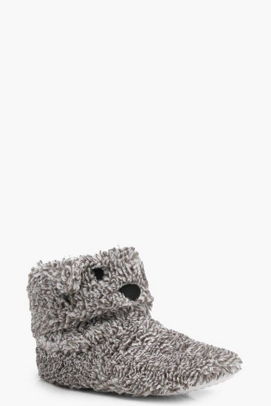 Sadie Bear Slipper Boots