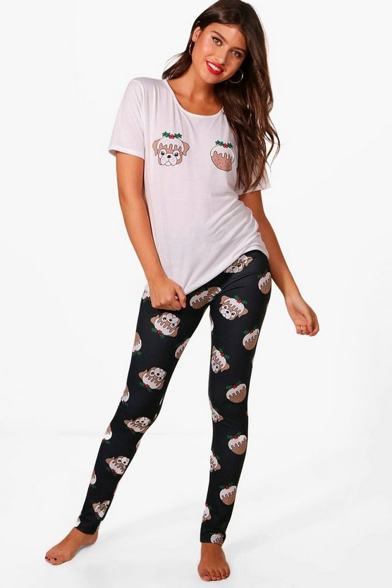T-shirt de Noël Charlie pudding & Ensemble legging