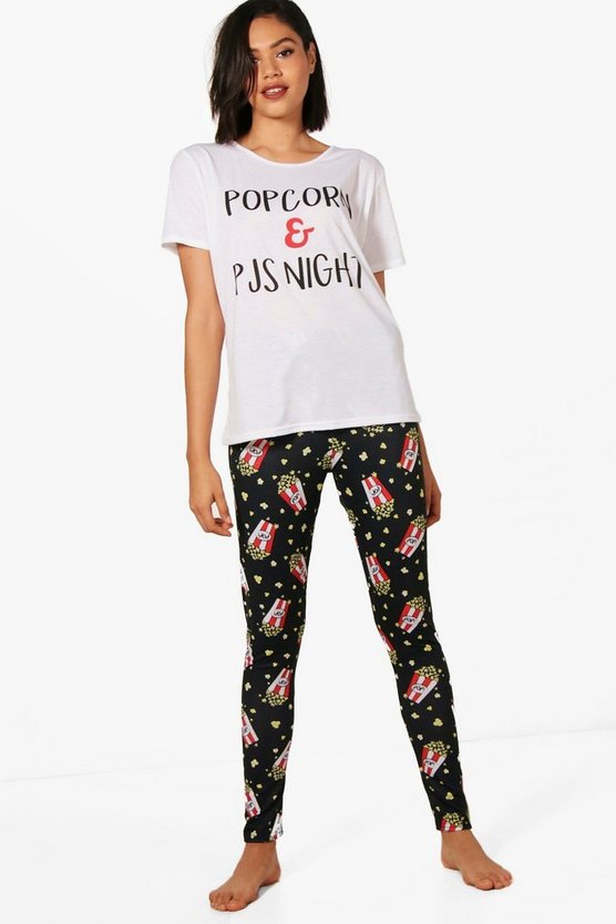 Kaitlyn 'Popcorn & PJ's Night' Tee & Legging Set