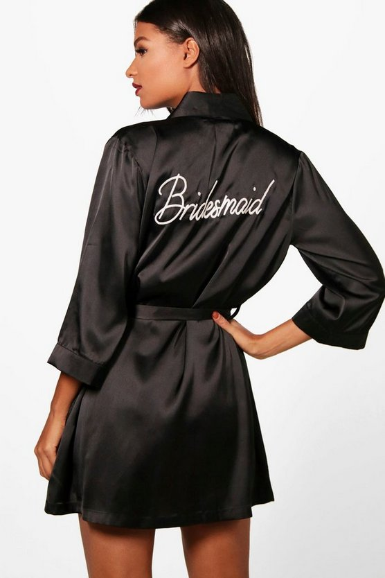 Taylor 'Bridesmaid' Satin Robe