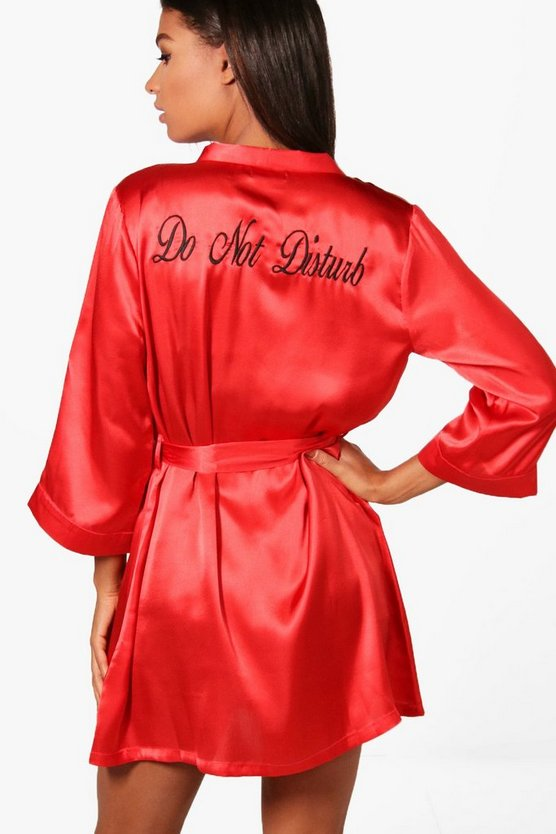 Taylor 'Do not Disturb' Slogan Satin Robe