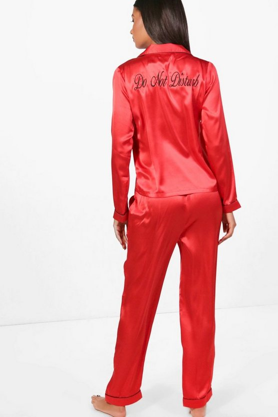 Ellie 'Do Not Disturb' Slogan Shirt & Trouser Set